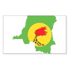 Zaire Flag and Map Decal