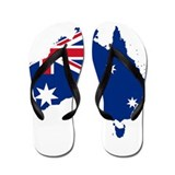 Australia Flag and Map Flip Flops