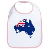 Australia Flag and Map Bib