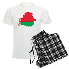 Belarus Flag and Map Pajamas