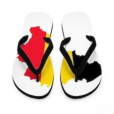 Belgium Flag and Map Flip Flops