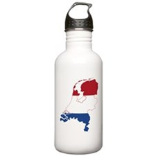 Netherlands Flag and Map Water Bottle