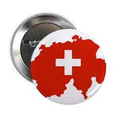 "Switzerland Flag and Map 2.25"" Button"