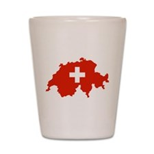 Switzerland Flag and Map Shot Glass