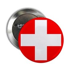 "Swiss flag 2.25"" Button"