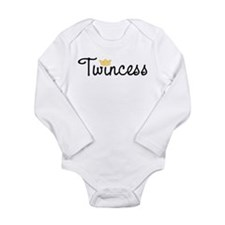 Twincess Long Sleeve Infant Bodysuit