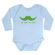 You make me smile Long Sleeve Infant Bodysuit