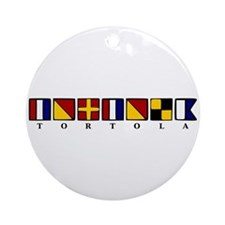 Nautical Tortola Ornament (Round)
