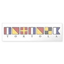 Nautical Tortola Bumper Sticker