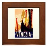 Venice Travel Poster 1 Framed Tile