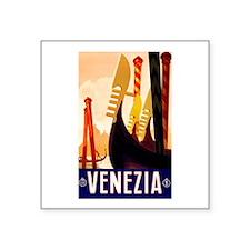 """Venice Travel Poster 1 Square Sticker 3"""" x 3"""""""