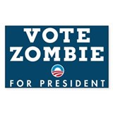 Vote Zombie Sticker 1
