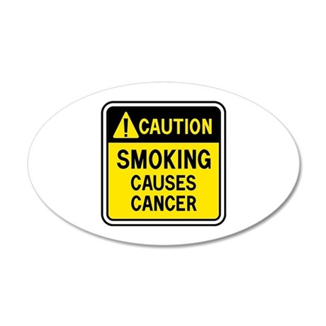 Smoking Warning 38.5 x 24.5 Oval Wall Peel