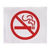 No Smoking Throw Blanket