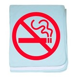 No Smoking baby blanket
