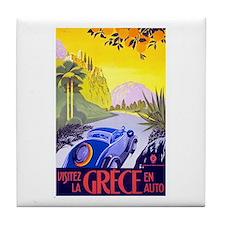 Greece Travel Poster 1 Tile Coaster