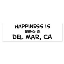 Del Mar - Happiness Bumper Bumper Sticker