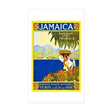 Jamaica Travel Poster 2 Decal
