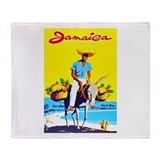 Jamaica Travel Poster 1 Throw Blanket