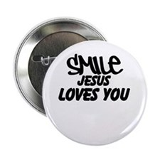 "Smile Jesus Loves You 2.25"" Button"