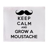 Keep calmd and grow a moustache Throw Blanket