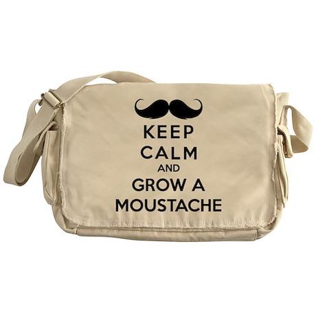 Keep calmd and grow a moustache Messenger Bag