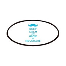 Keep calmd and grow a moustache Patches