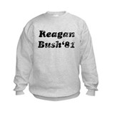 Distressed Reagan bush 81.png Sweatshirt