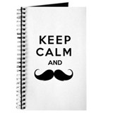 Keep calm and moustache Journal