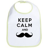 Keep calm and moustache Bib