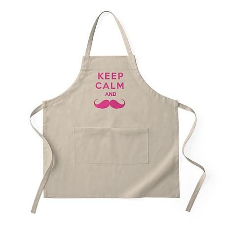 Keep calm and moustache Apron