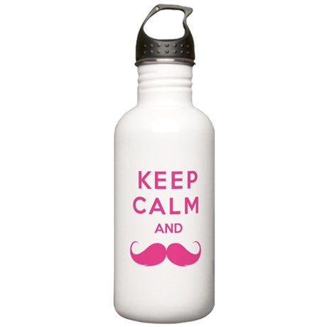 Keep calm and moustache Stainless Water Bottle 1.0