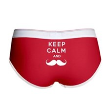 Keep calm and moustache Women's Boy Brief