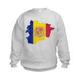 Andorra Flag And Map Sweatshirt