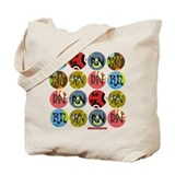 RN Colorful Polkadot Tote Bag