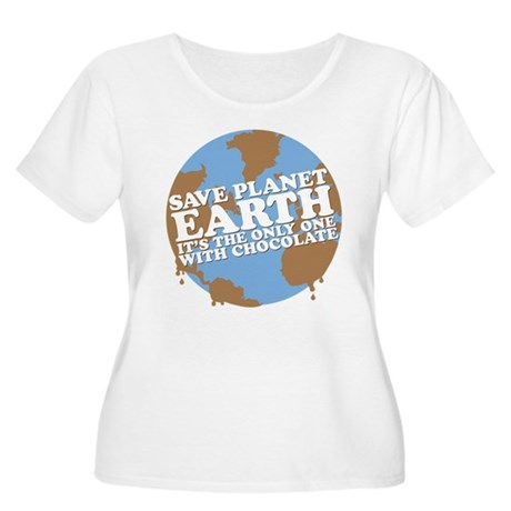save earth Women's Plus Size Scoop Neck T-Shirt