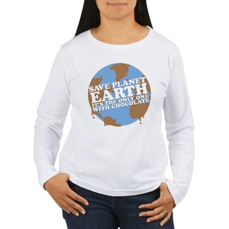 save earth Women's Long Sleeve T-Shirt