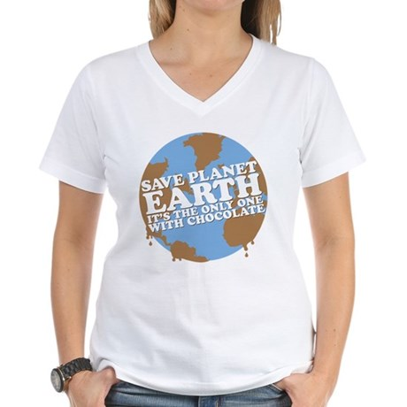 save earth Women's V-Neck T-Shirt