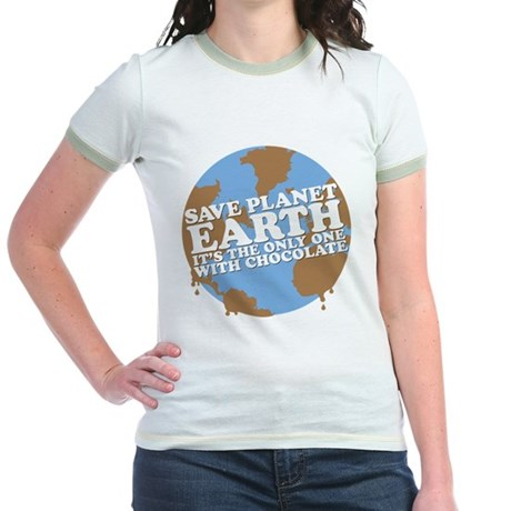save earth Jr. Ringer T-Shirt