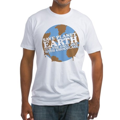 save earth Fitted T-Shirt