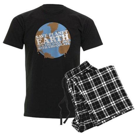 save earth Men's Dark Pajamas