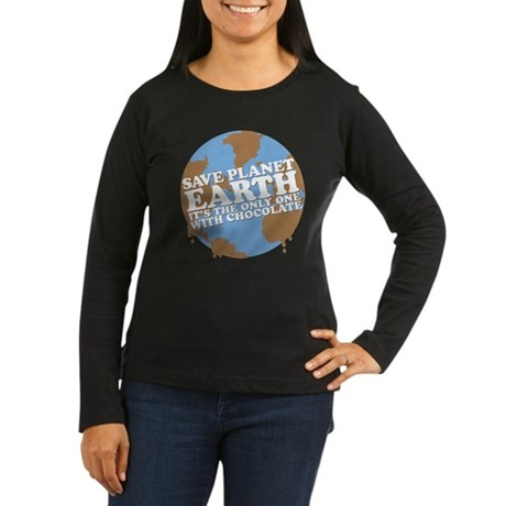 save earth Women's Long Sleeve Dark T-Shirt