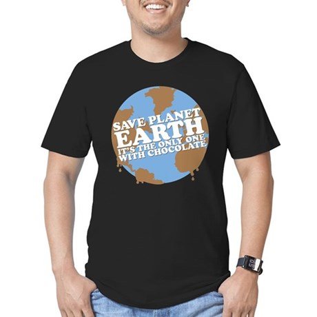 save earth Men's Fitted T-Shirt (dark)