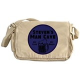 Personalized Man Cave Messenger Bag