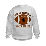 Boys football birthday 4 Crew Neck