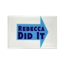 Personalized She Did It Rectangle Magnet (100 pack
