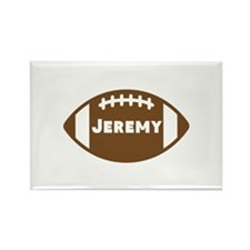 Personalized Football Rectangle Magnet (100 pack)