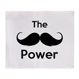 The moustache power Throw Blanket