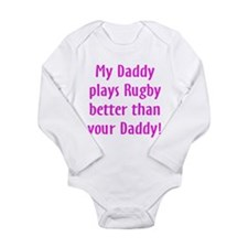 Cool Rugby kids Long Sleeve Infant Bodysuit