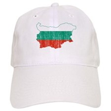 Bulgaria Flag And Map Baseball Cap
